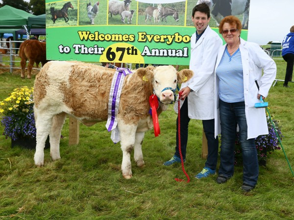 Ballinrobe 2017 Western Club Champion Connaught Heifer Calf 'Carrickview Jess' sponsored by Aurivo