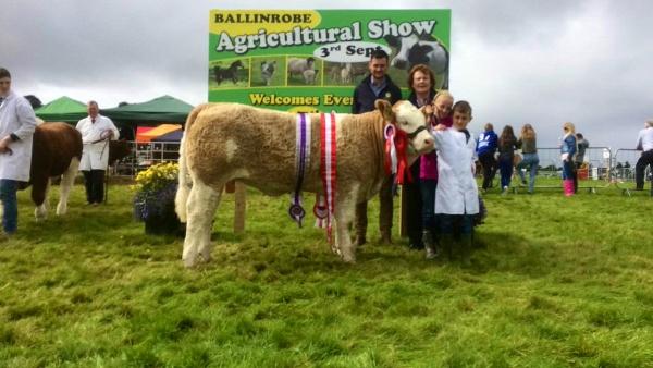 Ballinrobe 2017 Overall Champion & Heifer Winner 'Tawley Hanna'