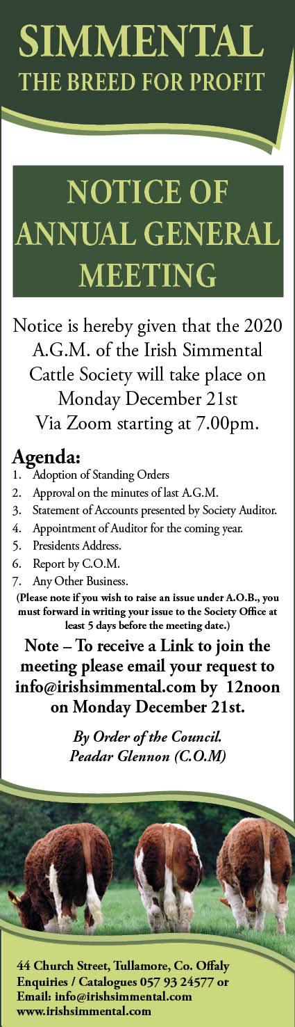 Irish Simmental Cattle Society AGM
