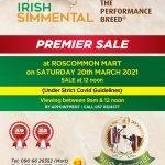 Catalogue for Premier Sale 20th March 2021 at Roscommon